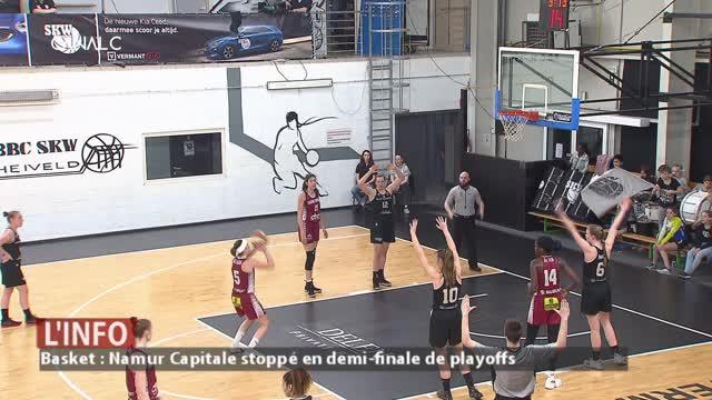 Résumé du match de Basket-ball: Wavre Sainte Catherine – Namur Capitale