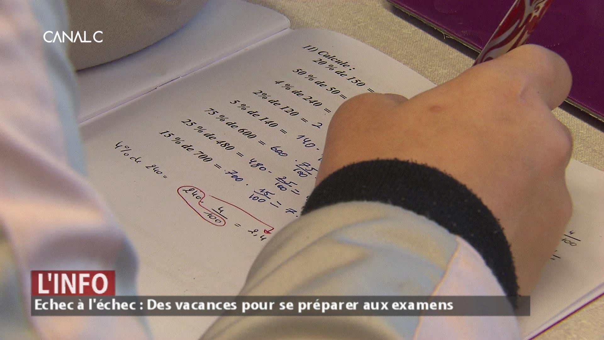Echec à l'échec : des vacances pour se préparer aux examens