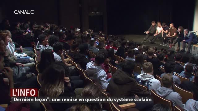 """Théâtre Jardin Passion à Namur: """"Dernière leçon"""" pour bousculer l'école!"""