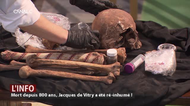Mort depuis 800 ans, Jacques de Vitry a été ré-inhumé !