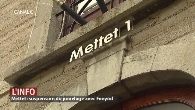 Mettet : Suspension d'un an pour le jumelage avec Fonyód
