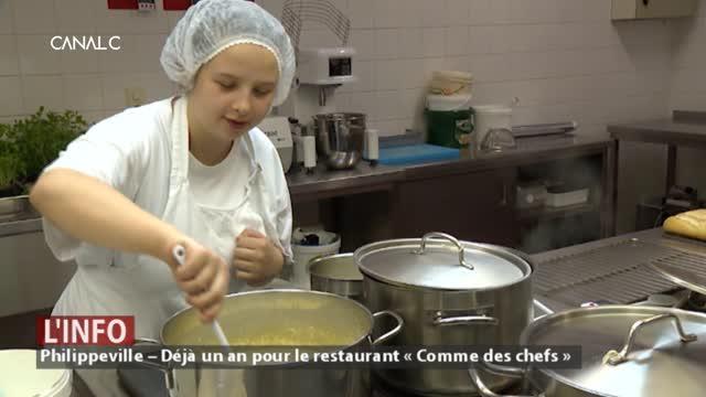 Philippeville – Déjà un an pour le restaurant « Comme des chefs »