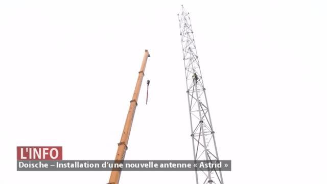 Doische – Installation d'une nouvelle antenne « Astrid »