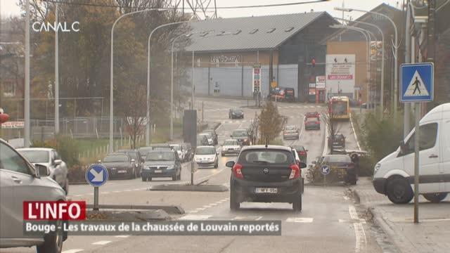 Bouge - Les travaux de la chaussée de Louvain reportés