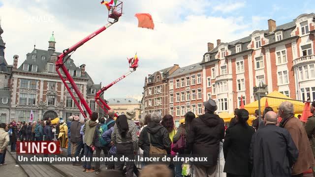 Namur - Un championnat du monde de... lancer de drapeaux
