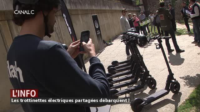 Namur: 170 trottinettes déposées sur les trottoirs du centre ville ce matin