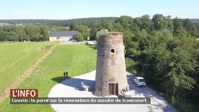Couvin - Journées européennes des moulins : le point sur les rénovations du moulin de Tromcourt