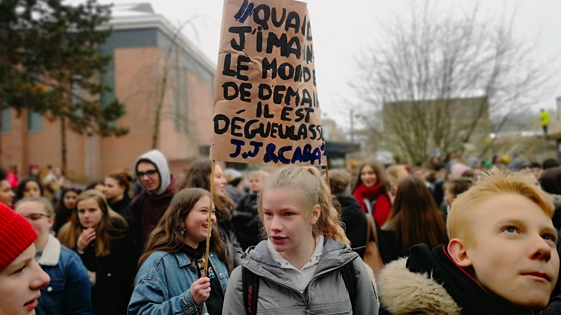Manifestation pour le climat à Namur. ©J.Bau
