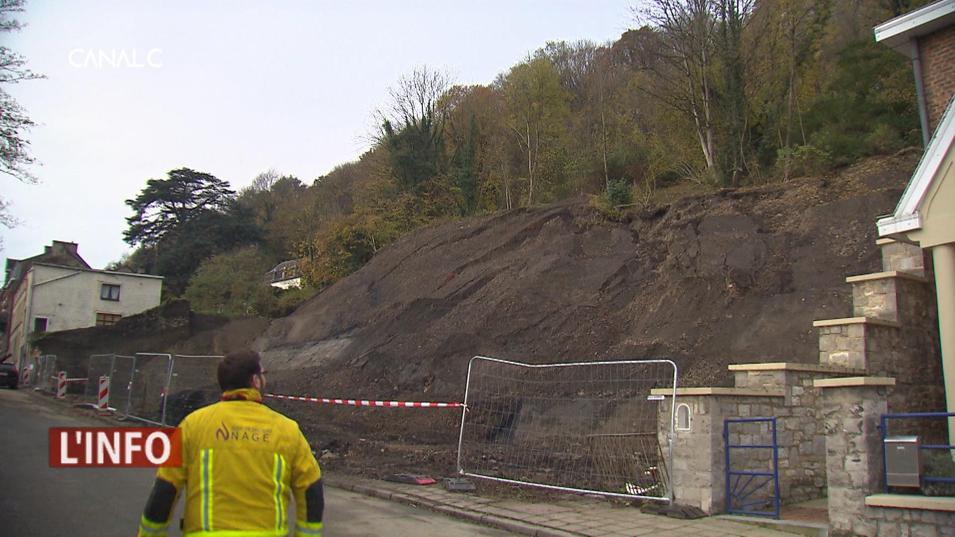 Glissement de terrain à la Citadelle de Namur