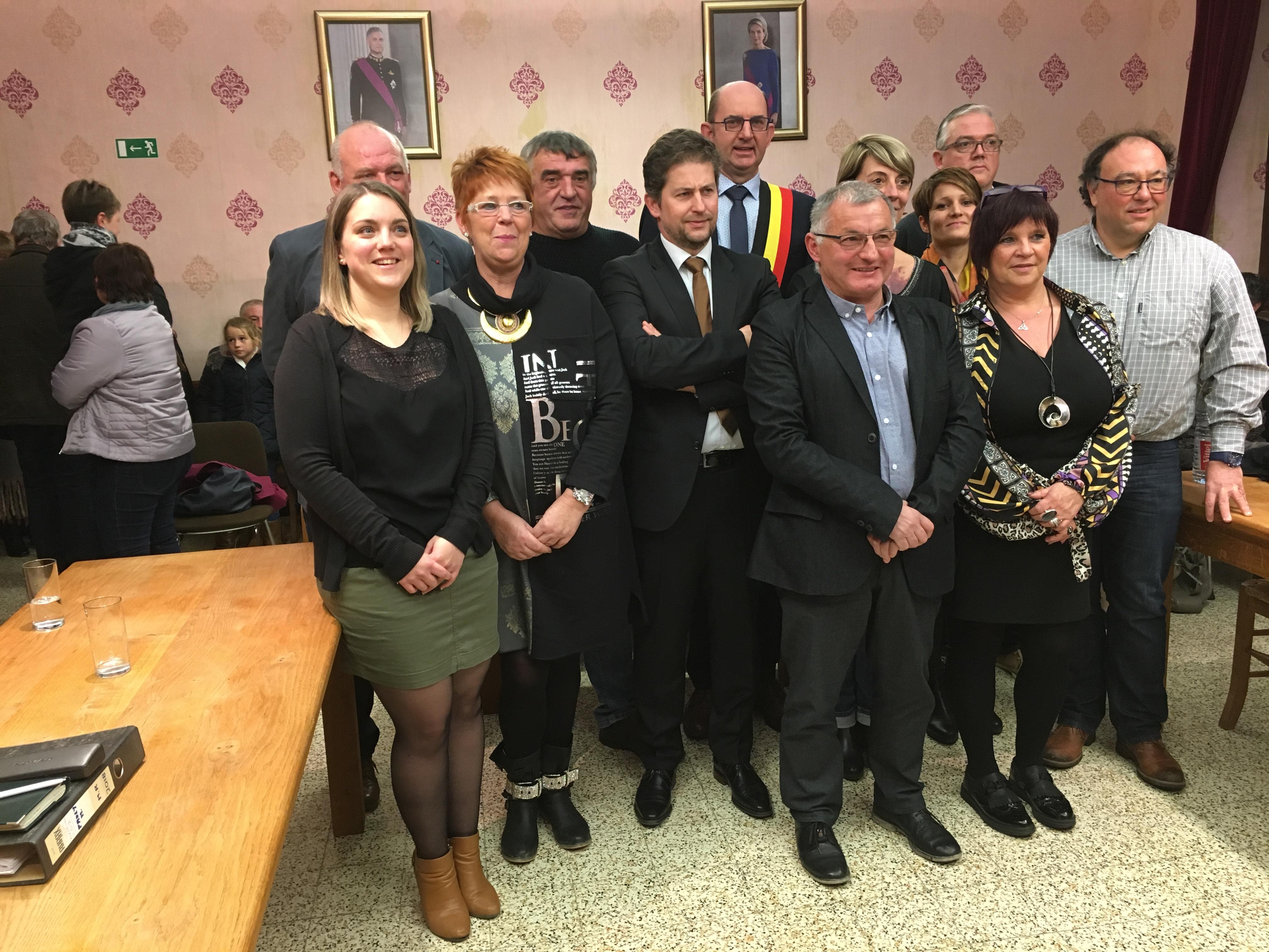 Le nouveau conseil communal de Doische