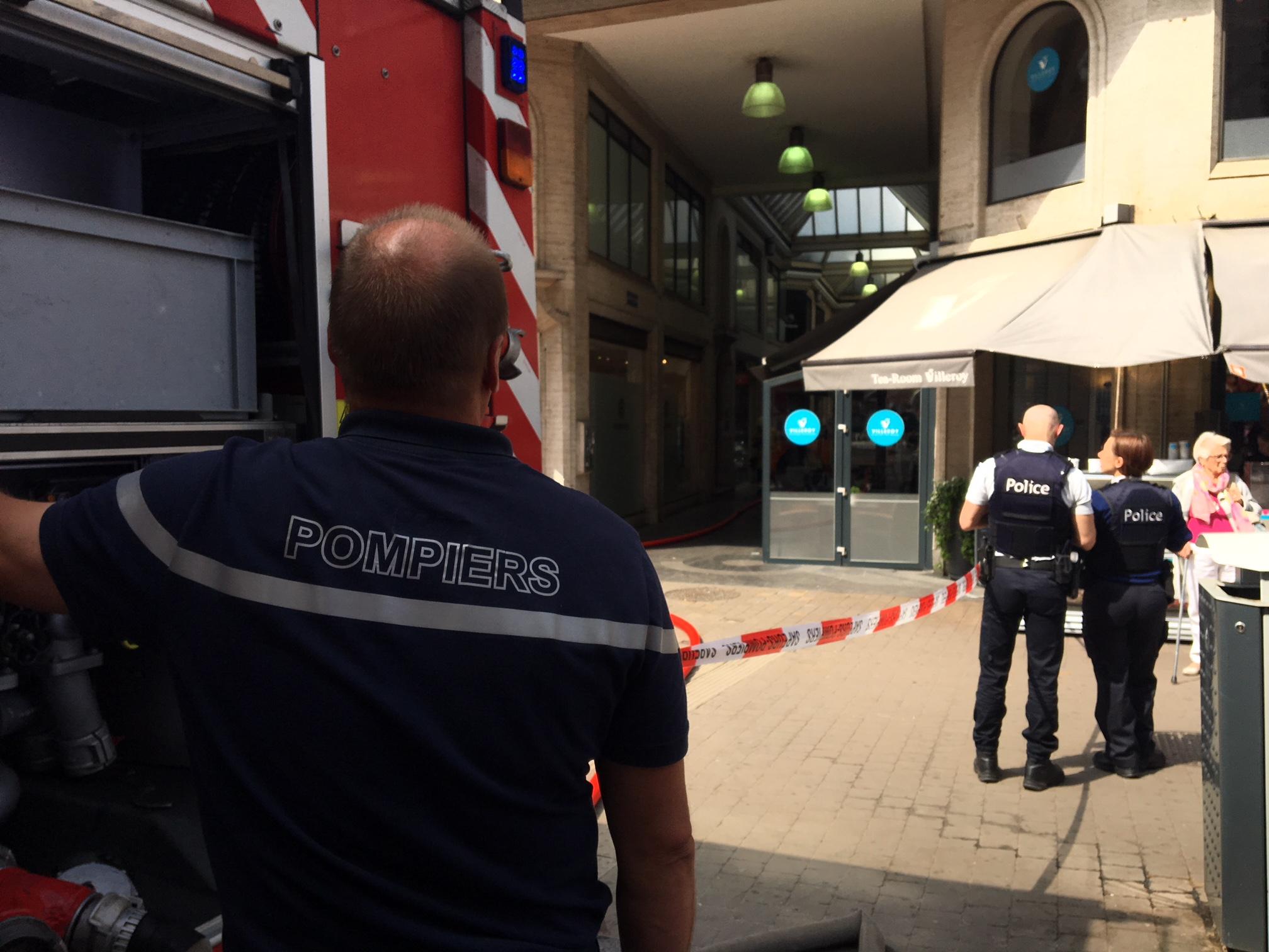 Pompiers de Namur à la Rue de Fer