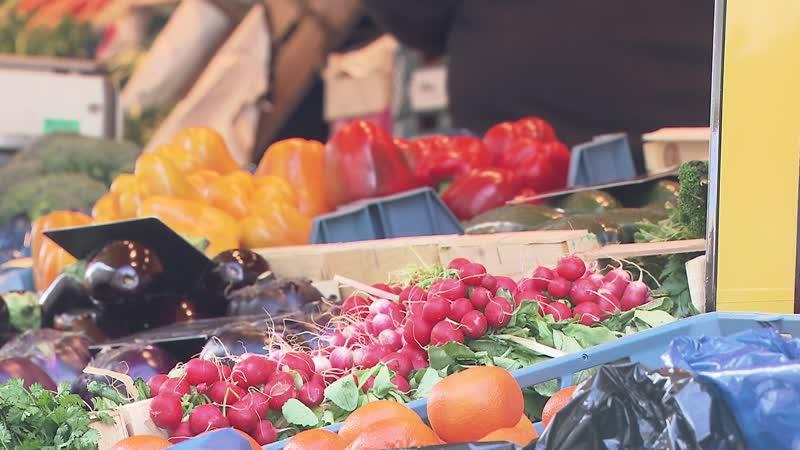 légumes dans marché