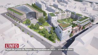 Plan du palais de justice de Namur