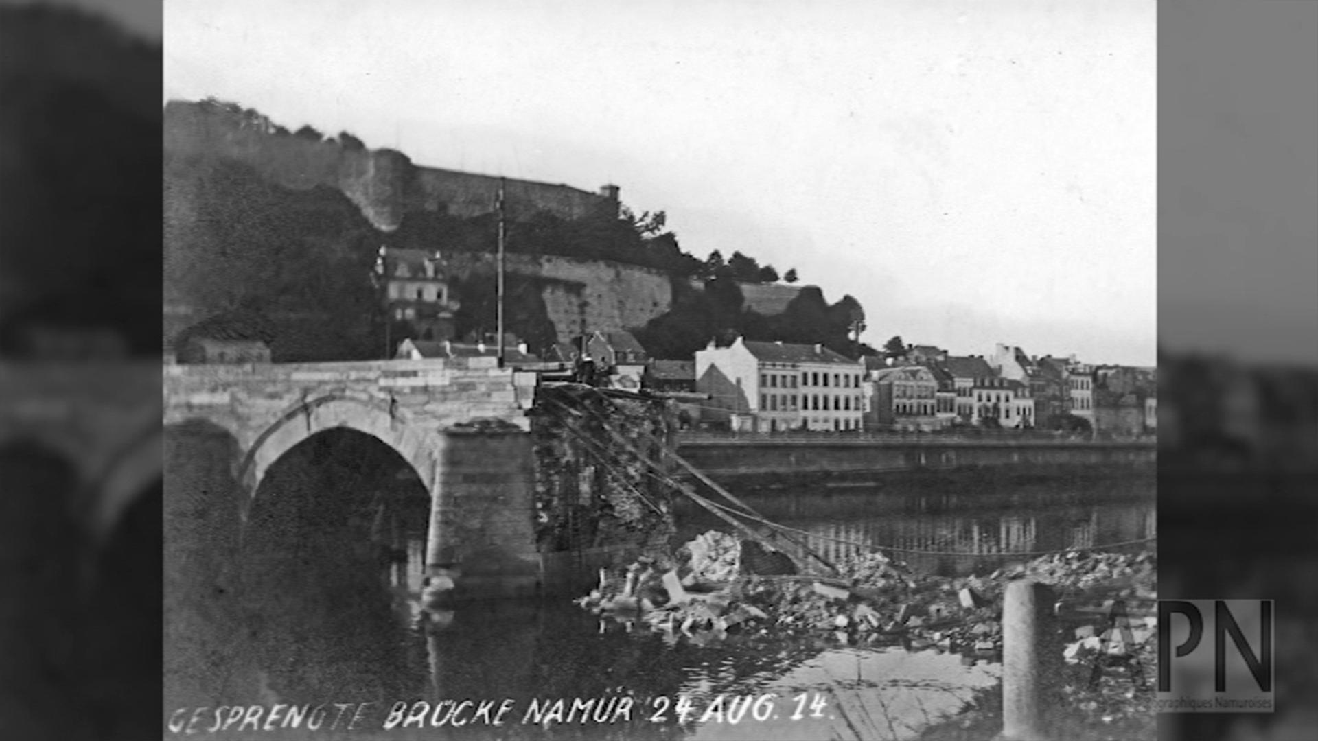 Le pont de Jambes en 1914